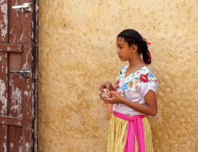 Jeune Mexicaine lors de la fête nationale